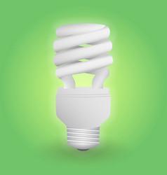economical fluorescent light bulb save energy vector image