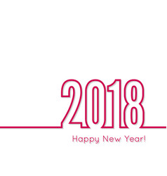 happy new year 2018 theme vector image