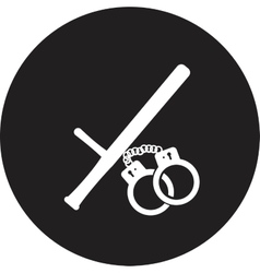 isolated modern police icon vector image