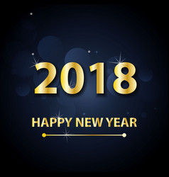 2018 happy new year background with gold letters vector image vector image