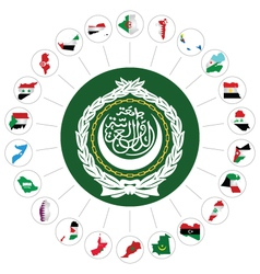 Arab league member states vector