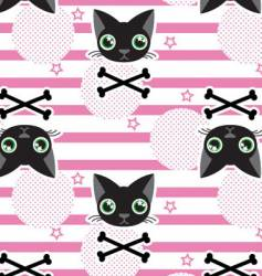 cat stripe seamless vector image