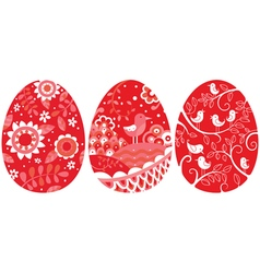Two easter eggs vector