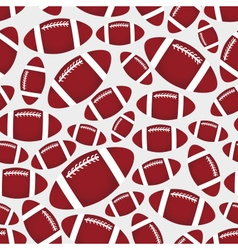 American football balls seamless color sport vector