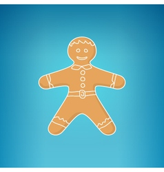 Gingerbread man decorated white icing vector