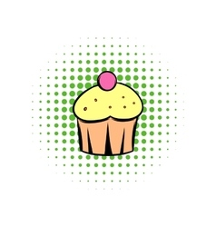 Cupcake comics icon vector