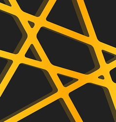 Crossed lines abstract gentle orange and yellow vector