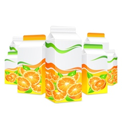 Packing lot orange juice vector