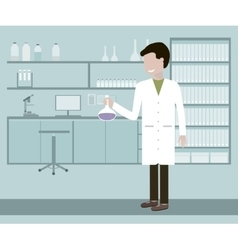 Laboratory assistant or scientist vector