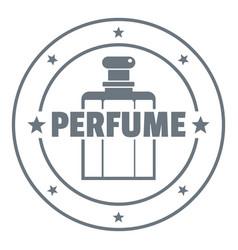Aroma bottle logo vintage style vector