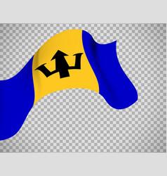 barbados flag on transparent background vector image vector image