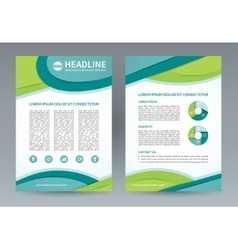 brochure flyer design template A4 size vector image