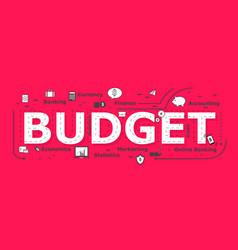 Budget word desigh vector
