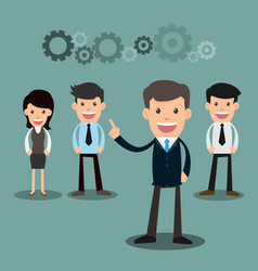 business people teamwork of employees and the vector image