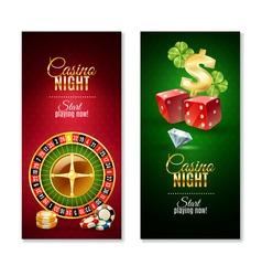 Casino night 2 vertical banners set vector