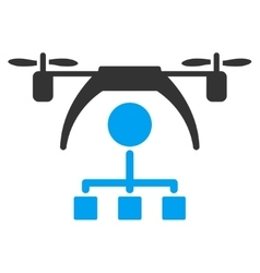 Copter Distribution Scheme Icon vector image vector image