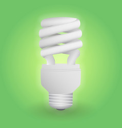 Economical fluorescent light bulb save energy vector