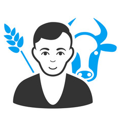 farmer flat icon vector image vector image