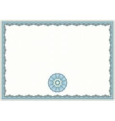 Guilloche Certificate Template vector image