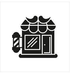 hair salon store line icon vector image vector image