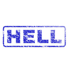 Hell rubber stamp vector