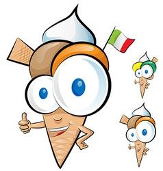 Ice cream cartoon vector