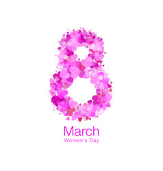 March 8 - womens day design of greeting card vector