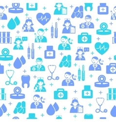 Medical seamless pattern background vector