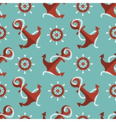 Navigation seamless pattern with an anchor and a vector