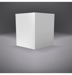 Open folder template standing vector