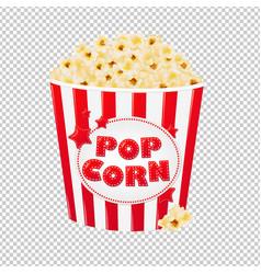 Popcorn in cardboard box vector
