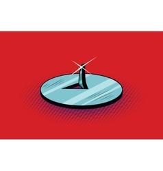 Pushpin sharp metal spike button vector image