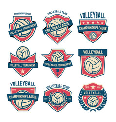 Set of volleyball club emblems volleyball vector