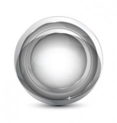 silver icon vector image