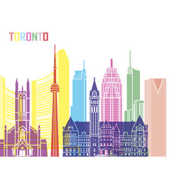 Toronto v2 skyline pop vector