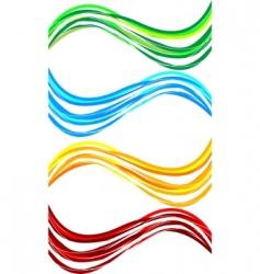 vector set wavy banners vector image