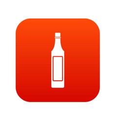 Vinegar bottle icon digital red vector