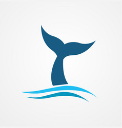 whale tail icon vector image