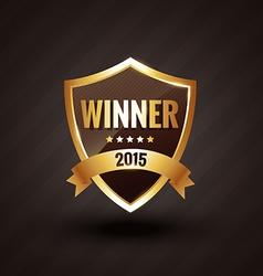 winner of 2015 golden label design badge vector image
