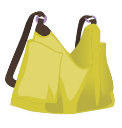 Yellow women handbag isolated on white background vector