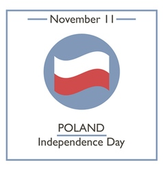 Poland independence day vector