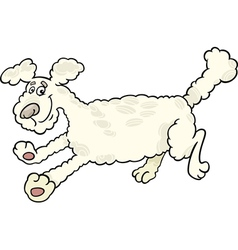 Running poodle dog cartoon vector
