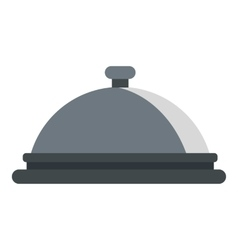 Restaurant cloche icon flat style vector