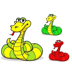 Cartoon funny snake vector image