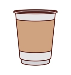 Glass disposable for hot drinks vector