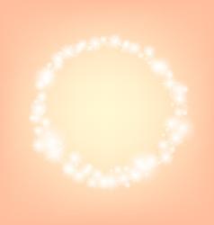 Orange romantic abstrack sparkling circle frame vector
