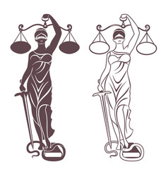 lady justice themis vector image