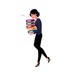 Young pretty businesswoman woman girl carrying vector