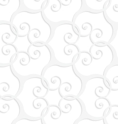 3d white swirls grid vector