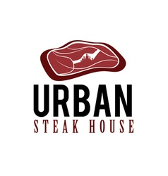 Urban steak house concept vector